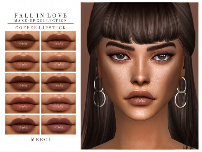 Sims 4 Coffee Lipstick by Merci at TSR