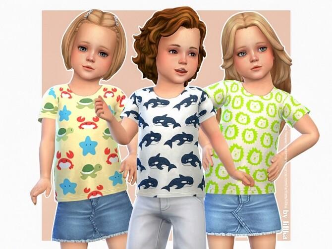 Sims 4 Animal T Shirt 02 by lillka at TSR