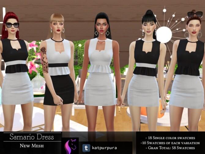 Sims 4 Samario Dress by KaTPurpura at TSR