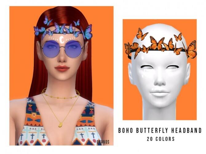 Sims 4 Boho Butterfly Headband by OranosTR at TSR
