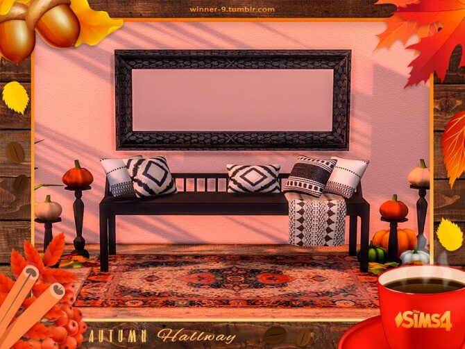 Sims 4 Autumn hallway by Winner9 at TSR