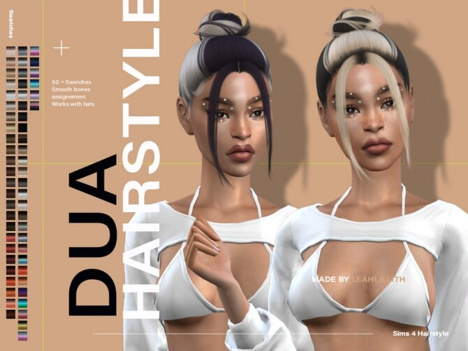 Sims 4 Dua Hairstyle by Leah Lillith at TSR