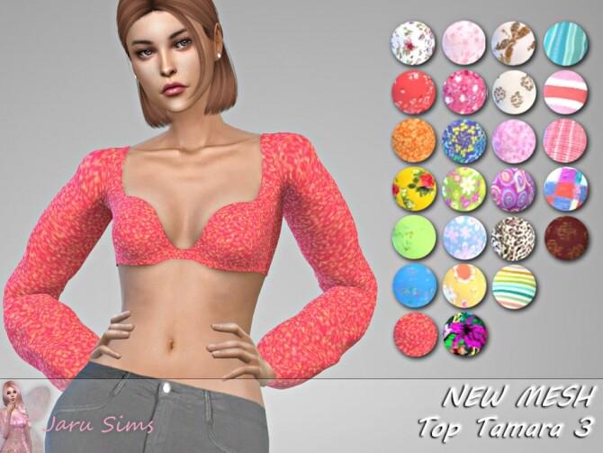 Sims 4 Top Tamara 3 by Jaru Sims at TSR