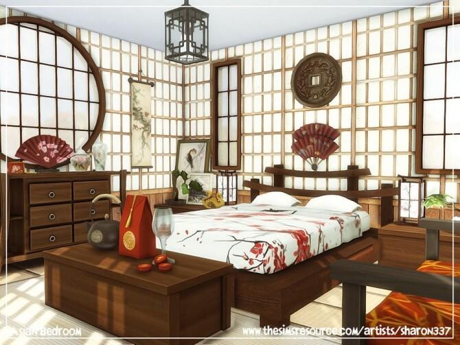 Sims 4 Asian Bedroom by sharon337 at TSR