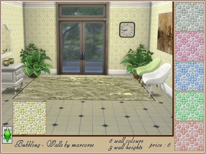 Sims 4 Bubbling walls by marcorse at TSR