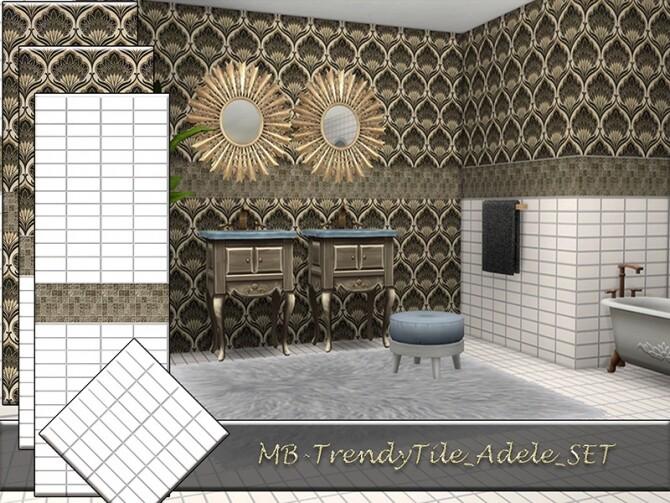 MB Trendy Tile Adele SET by matomibotaki at TSR image 837 670x503 Sims 4 Updates