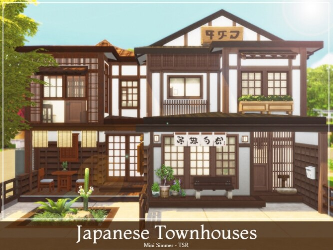 Japanese Townhouses by Mini Simmer