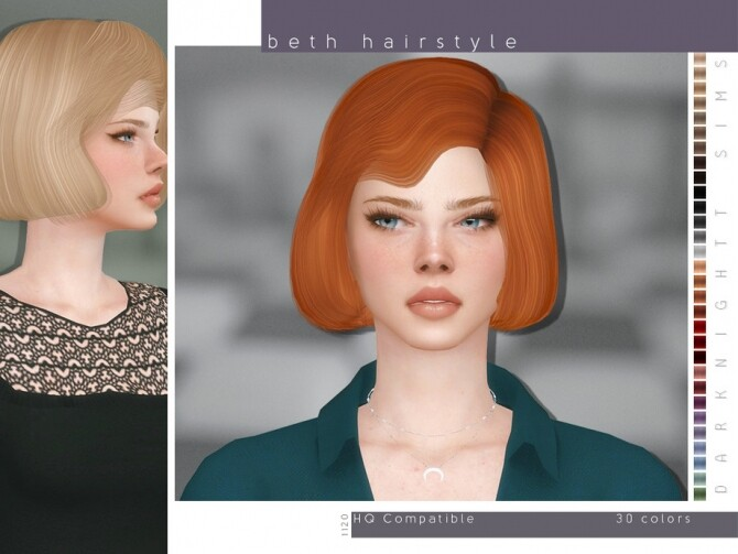 Beth Hairstyle by DarkNighTt at TSR image 8410 670x503 Sims 4 Updates