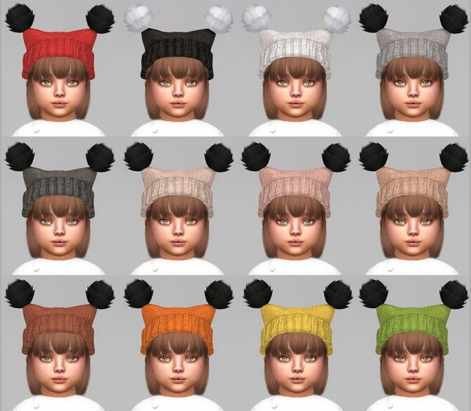 Fluffy Pompoms Hat For toddlers at Giulietta image 854 670x584 Sims 4 Updates