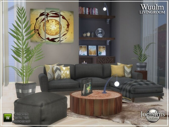 Wuulm living room by  jomsims at TSR image 8613 670x503 Sims 4 Updates