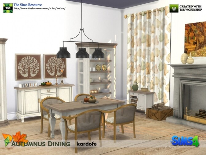 Sims 4 Autumnus Dining by Kardofe at TSR