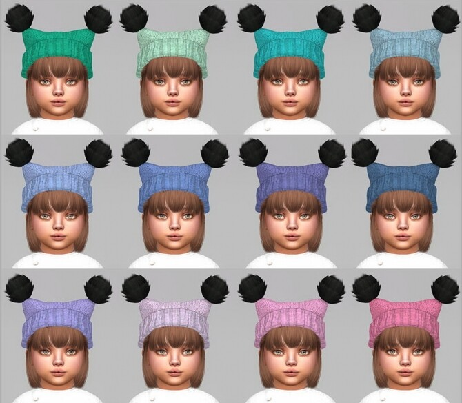Fluffy Pompoms Hat For toddlers at Giulietta image 864 670x584 Sims 4 Updates