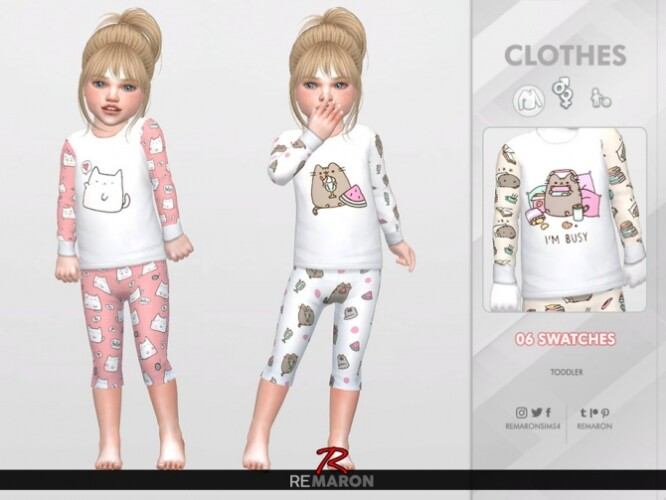 Cats PJ Sweater for Toddler 01 by remaron