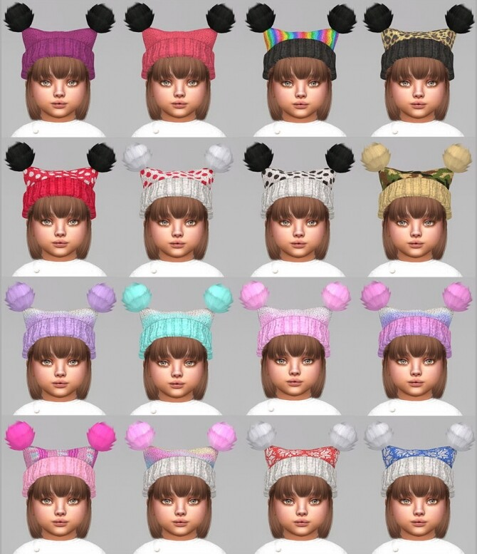 Fluffy Pompoms Hat For toddlers at Giulietta image 874 670x777 Sims 4 Updates