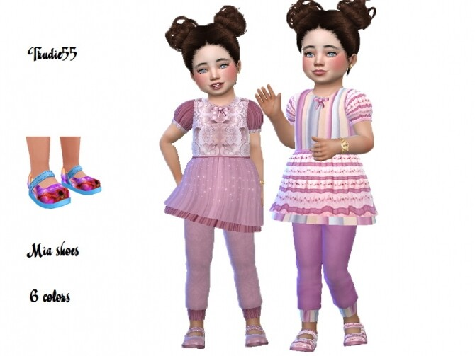 Sims 4 Mia shoes recolor by TrudieOpp at TSR