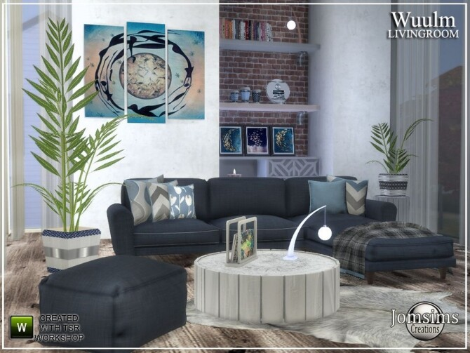 Wuulm living room by  jomsims at TSR image 8813 670x503 Sims 4 Updates