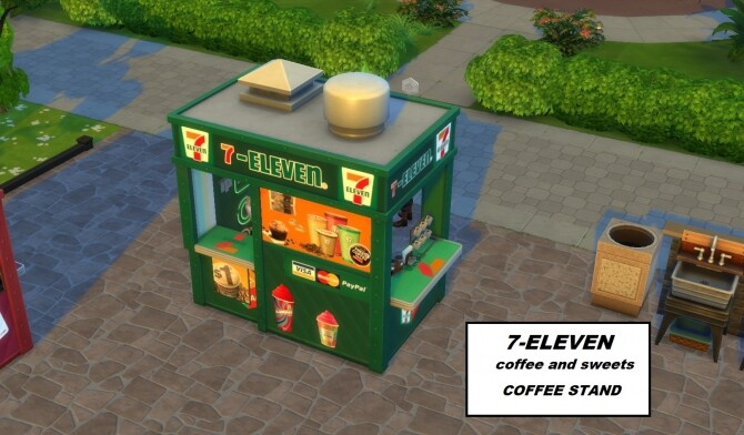 Sims 4 7 ELEVEN coffee and sweets to go by ArLi1211 at Mod The Sims