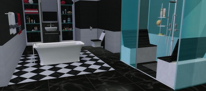 Sims 4 Bronte Bathroom at LIZZY SIMS