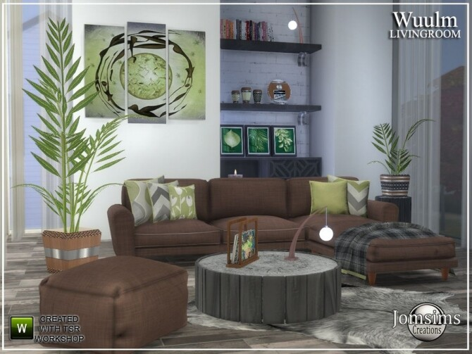 Wuulm living room by  jomsims at TSR image 8913 670x503 Sims 4 Updates
