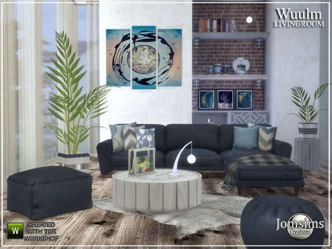 Wuulm living room by  jomsims at TSR image 9013 670x503 Sims 4 Updates