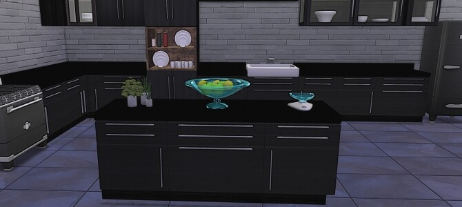 Sims 4 Mono Kitchen at LIZZY SIMS