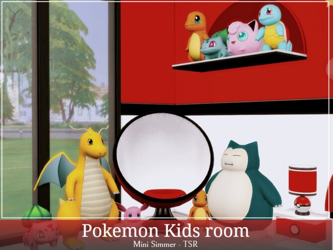 Sims 4 Pokemon Kids room by Mini Simmer at TSR