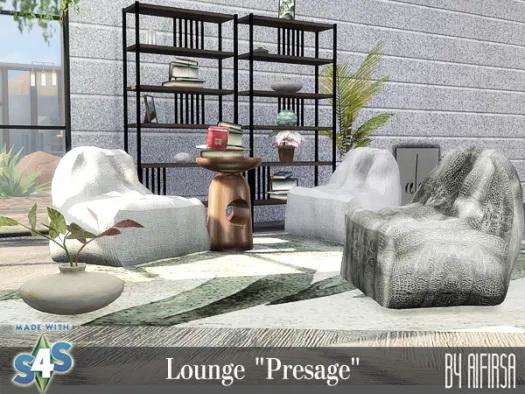 Sims 4 Presage lounge at Aifirsa