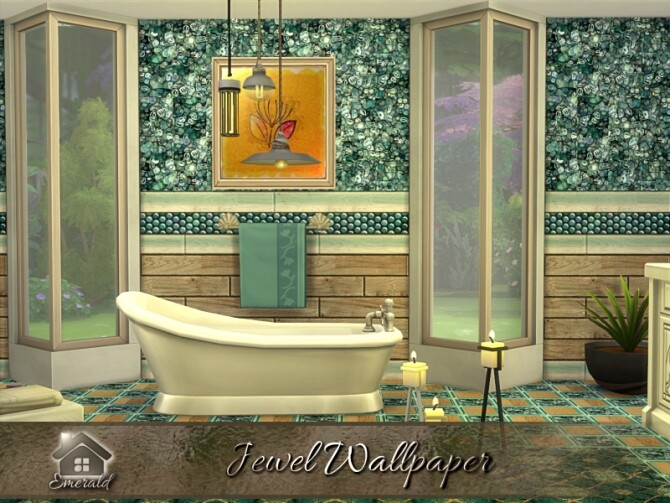 Sims 4 Jewel Wallpaper by emerald at TSR