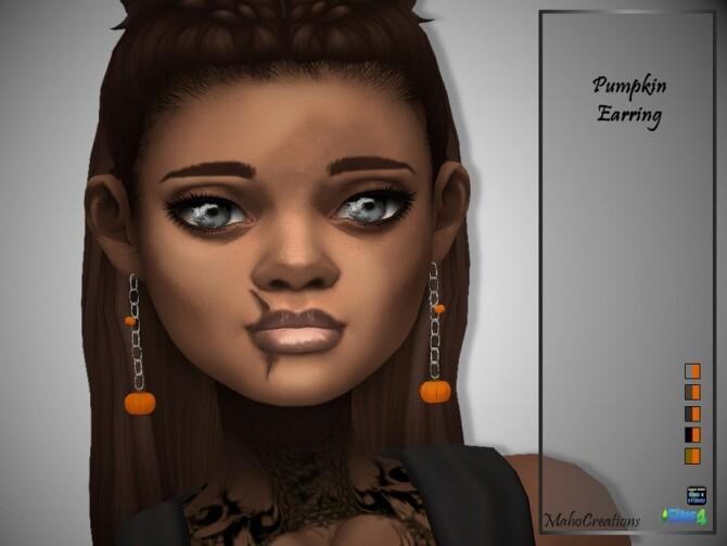 Pumpkin Earrings by MahoCreations