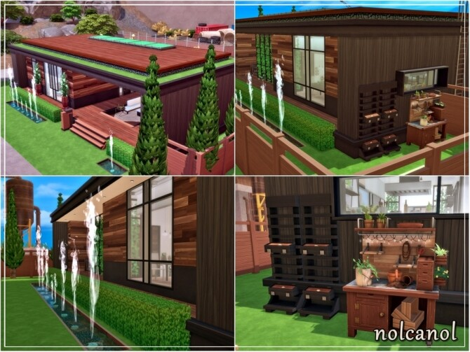 Modern Shila house by nolcanol at TSR image 960 670x503 Sims 4 Updates