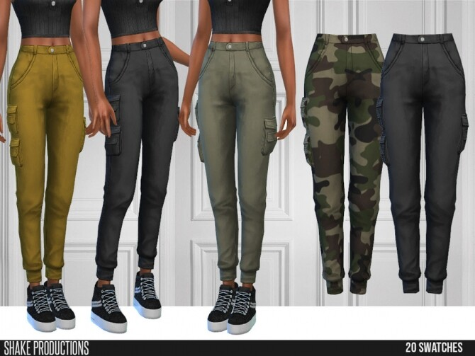 Sims 4 568 Cargo Pants by ShakeProductions at TSR