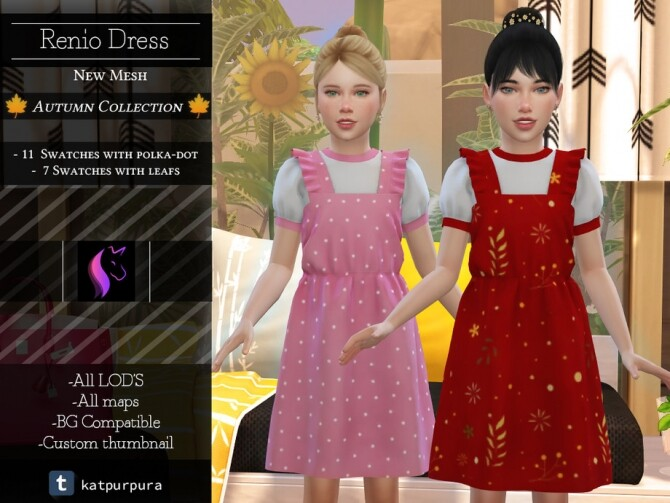 Sims 4 Renio Dress by KaTPurpura at TSR
