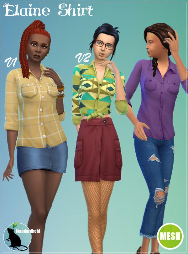 Sims 4 Elaine Shirt V1 + V2 Recolor at Standardheld