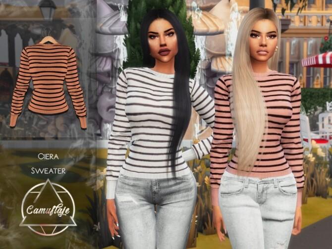Sims 4 Ciera Sweater by Camuflaje at TSR