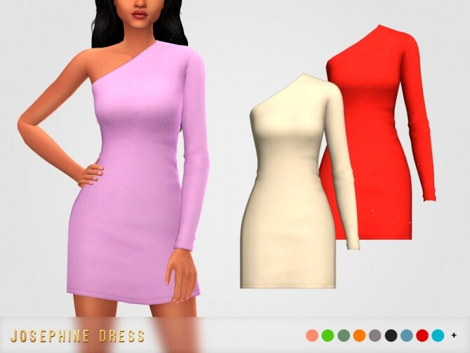 Sims 4 Josephine Dress by pixelette at TSR