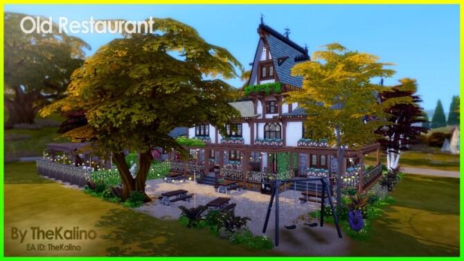 Sims 4 Old Restaurant at Kalino