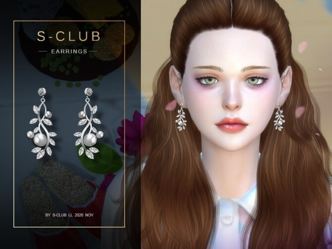 Sims 4 Earrings 202031 by S Club at TSR