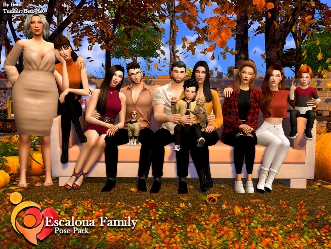 Sims 4 Escalona Family Poses by Beto ae0 at TSR