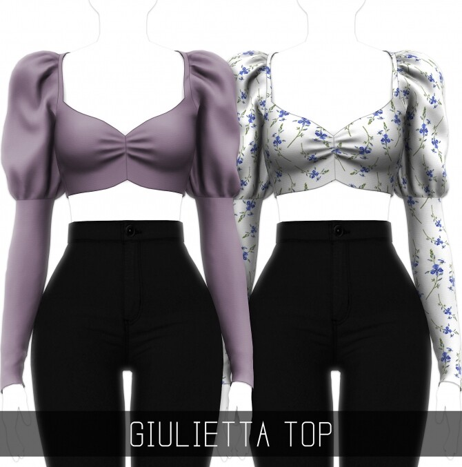 Giulietta Top at Simpliciaty image GIULIETTA TOP 670x677 Sims 4 Updates