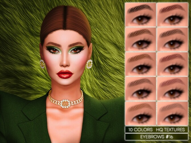 Sims 4 Eyebrows 16 by Jul Haos at TSR