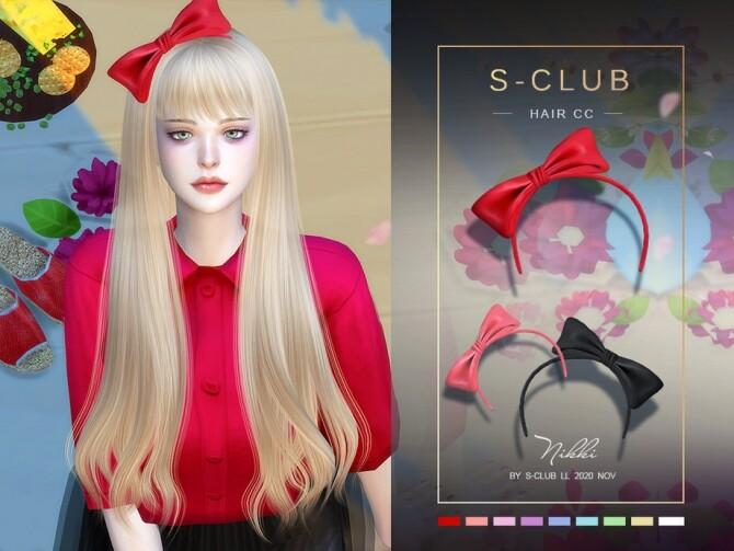 Sims 4 LL Hair CC 202015 by S Club at TSR