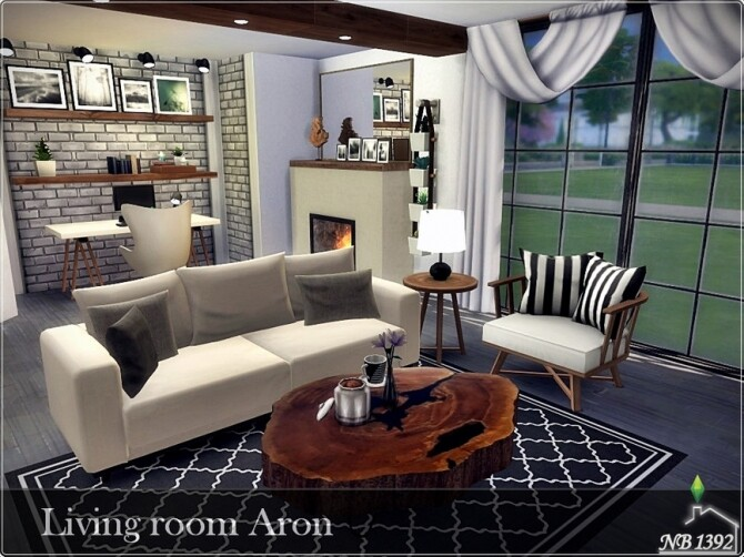 Sims 4 Living Room Aron by nobody1392 at TSR