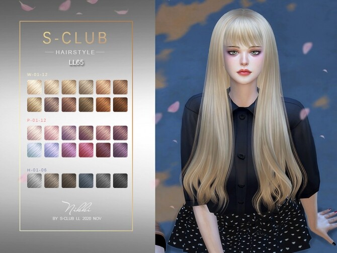 Sims 4 Nikki Hairstyle n65 by S Club at TSR