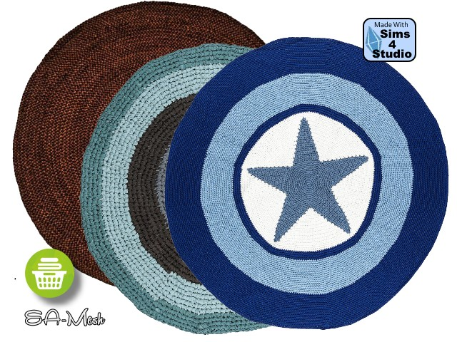 Sims 4 Round Rugs by Oldbox at All 4 Sims