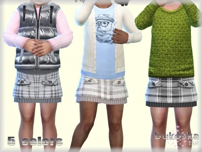 Sims 4 Skirt Plaid by bukovka at TSR