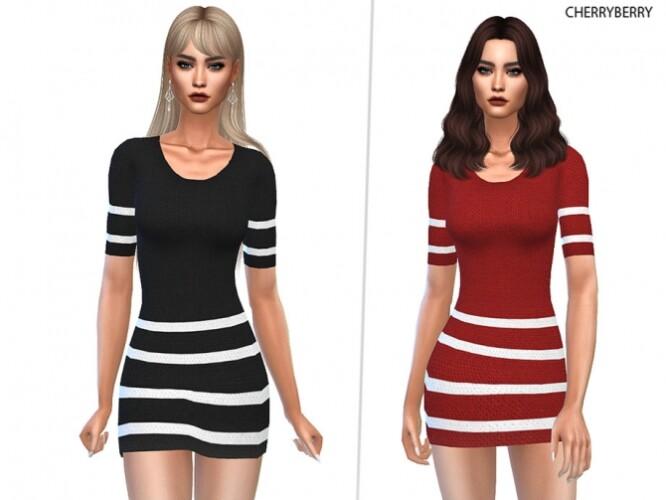 Striped-Velvet-Dress