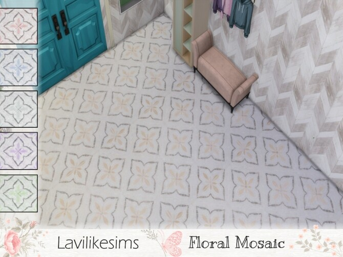 Sims 4 Floral Mosaic by lavilikesims at TSR