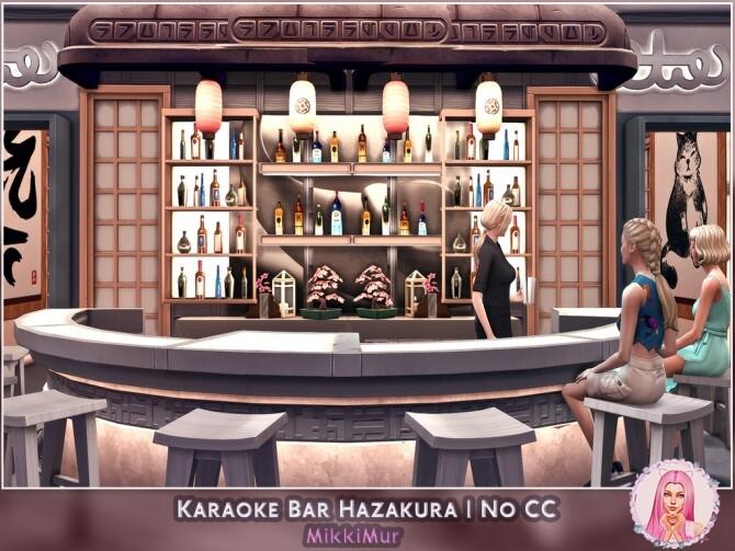 Sims 4 Karaoke Bar Hazakura at MikkiMur