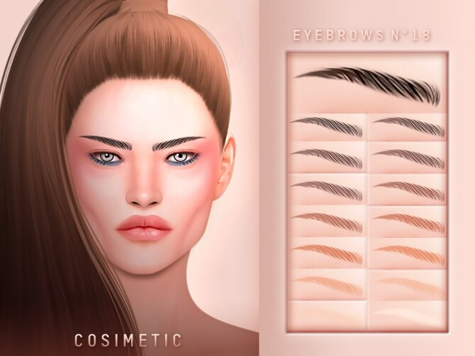 Sims 4 Eyebrows N18 by cosimetic at TSR