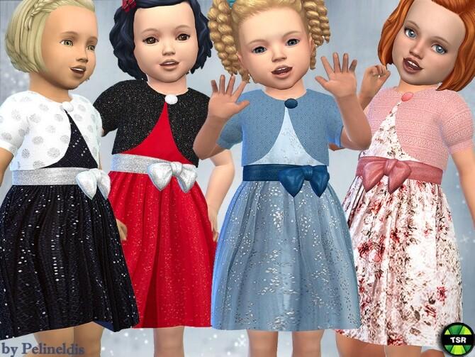 Sims 4 Toddler Festive Dress by Pelineldis at TSR